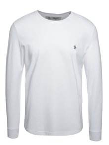 Bílé triko s dlouhým rukávem Original Penguin Winston