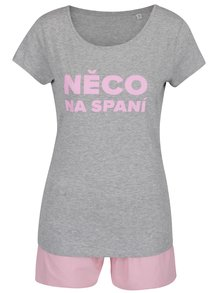 Šedo-růžové dámské pyžamo ZOOT Originál Něco na spaní