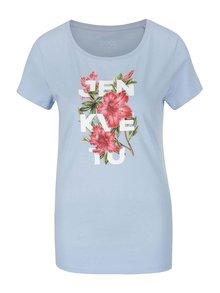 Modré dámské tričko ZOOT Originál Jen kvetu