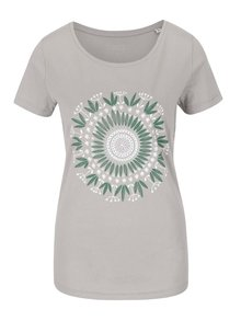 Sivé dámske tričko ZOOT Originál Mandala