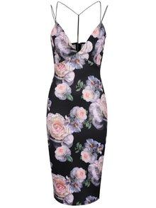 Černé dámské šaty s tenkými ramínky Ax Paris