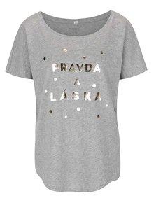 Sivé dámske tričko ZOOT Originál Pravda a láska