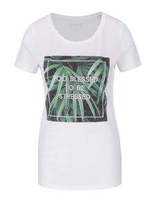 Tricou alb ZOOT Original Too Blessed din bumbac organic cu print