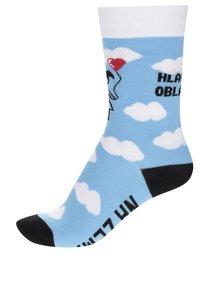 Modré dámské ponožky s obláčky ZOOT Originál