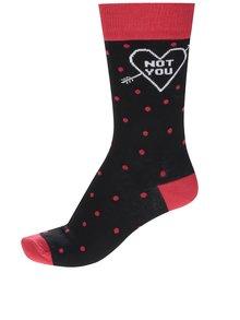 Červeno-čierne pánske ponožky s bodkami ZOOT Originál