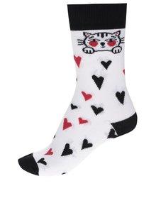Șosete albe ZOOT Original cu model și detalii negre