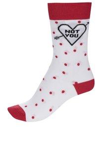 Șosete albe ZOOT Original cu model cu buline și detalii roșii