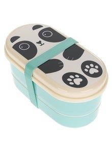 Tyrkysový box na jídlo s potiskem Sass & Belle Aiko Panda
