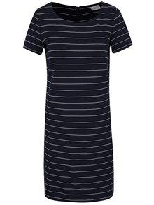 Tmavě modré pruhované šaty VILA Tinny