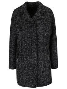 Sivo-čierny melírovaný kabát Zabaione Mantel Lory