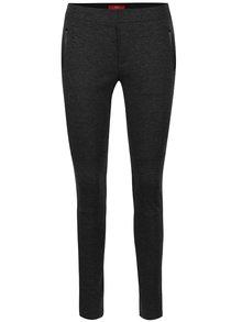 Pantaloni skinny gri s.Oliver cu detalii cu aspect de piele