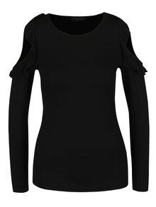 Černé tričko s odhalenými rameny  Dorothy Perkins