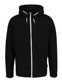 Jachetă neagră Jack & Jones Original Floor din bumbac cu glugă