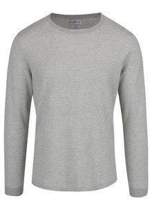 Bluză gri Jack & Jones Leo din bumbac cu model în dungi