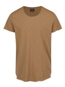 Hnědé žíhané triko Jack & Jones Orbas