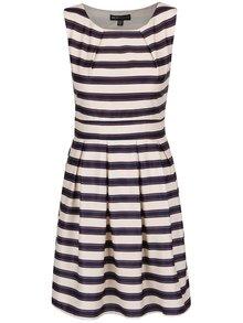 Modro-krémové pruhované šaty Mela London