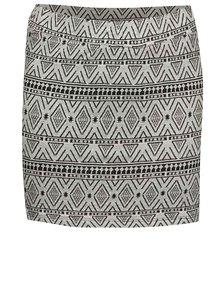 Čierno-sivá dievčenská vzorovaná sukňa Blue Seven
