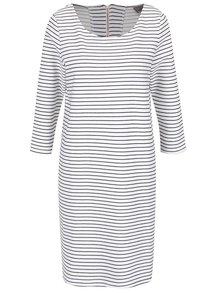 Černo-bílé pruhované šaty VERO MODA Ebru