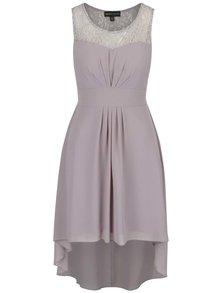 Sivé šaty s opaskom Mela London