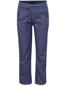 Pantaloni sport albaștri Blue Seven din bumbac cu talie elastică și aplicație