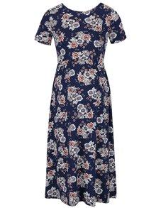 Modré těhotenské květované šaty Dorothy Perkins Maternity