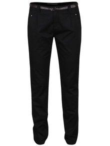 Čierne chino nohavice s opaskom VERO MODA Boni