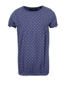 Bluză albastră Blue Seven cu model cu buline