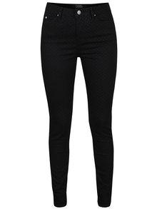 Černé slim džíny s třpytivými puntíky KARL LAGERFELD