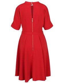 Rochie roșie Closet cu decolteu la baza gâtului