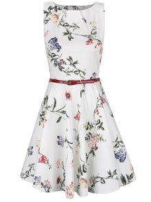 Krémové šaty s opaskom Closet