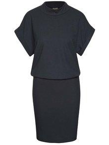 Modré žebrované šaty Selected Femme Rasti