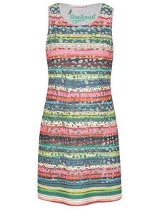 Růžovo-zelené šaty Desigual Phoenix