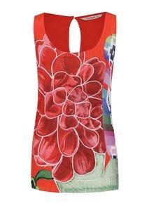 Rochie mini roșie Desigual Arkansas cu model floral