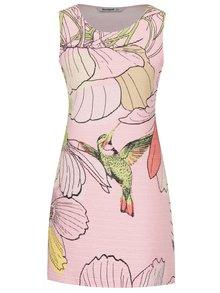 Růžové žebrované šaty s potiskem Desigual Menta