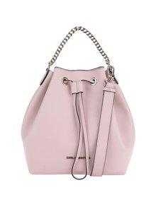 Svetloružová kožená kabelka KARL LAGERFELD
