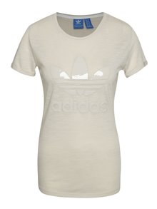 Béžové dámské tričko s logem adidas Originals