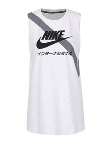 Šedé žíhané dámské tílko Nike