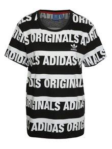 Bielo-čierne dámske tričko adidas Originals Trefoil