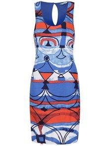Červeno-modré vzorované šaty Desigual Maribel