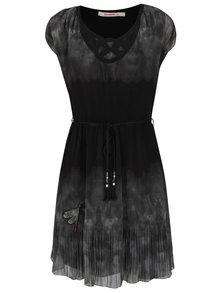 Zeleno-čierne šaty Desigual Yele