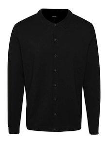 Cardigan negru Burton Menswear London cu guler ascuțit