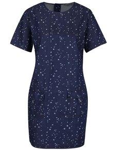 Tmavomodré rifľové šaty s drobným vzorom Dorothy Perkins