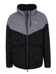 Sivo-čierna pánska športová bunda Nike
