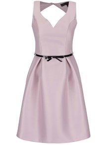 Fialové šaty s opaskom Dorothy Perkins
