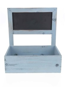 Modrý dřevěný truhlík na květiny Dakls
