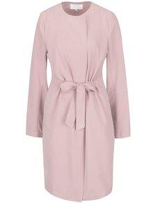 Světle růžový lehký kabát se stahováním v pase VILA Wonderfull