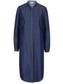 Tmavě modré džínové košilové šaty VILA Explore