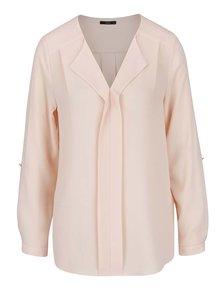 Bluză roz somon M&Co cu revere