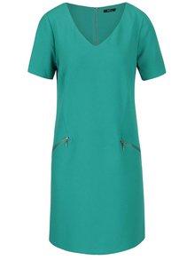 Zelené šaty s vreckami na zips M&Co