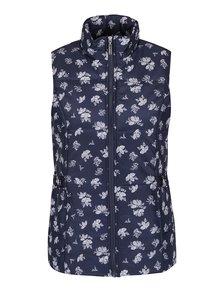 Tmavomodrá dámska vzorovaná vesta M&Co